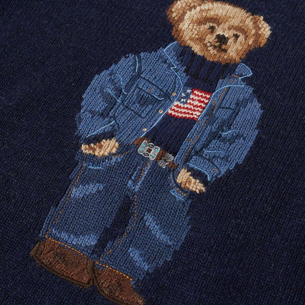 06a3cfa616c3 Polo Ralph Lauren Casual Bear Intarsia Knit Navy