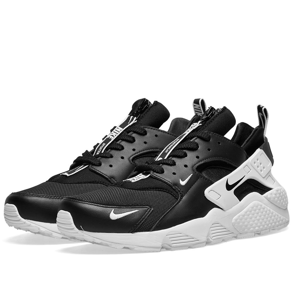 best sneakers b54fc 381cc Nike Air Huarache Run Premium Zip Black  White  END.