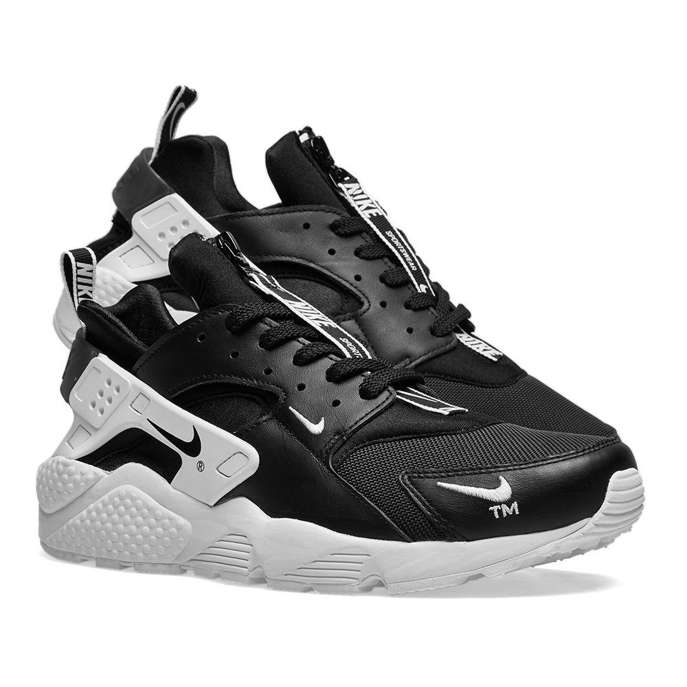 daa1276260ba2e Nike Air Huarache Run Premium Zip Black   White