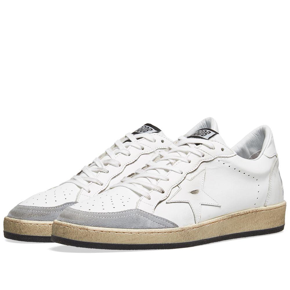 Golden Goose Deluxe Brand Ball Star Sneaker White   Grey  a03061c72c5c