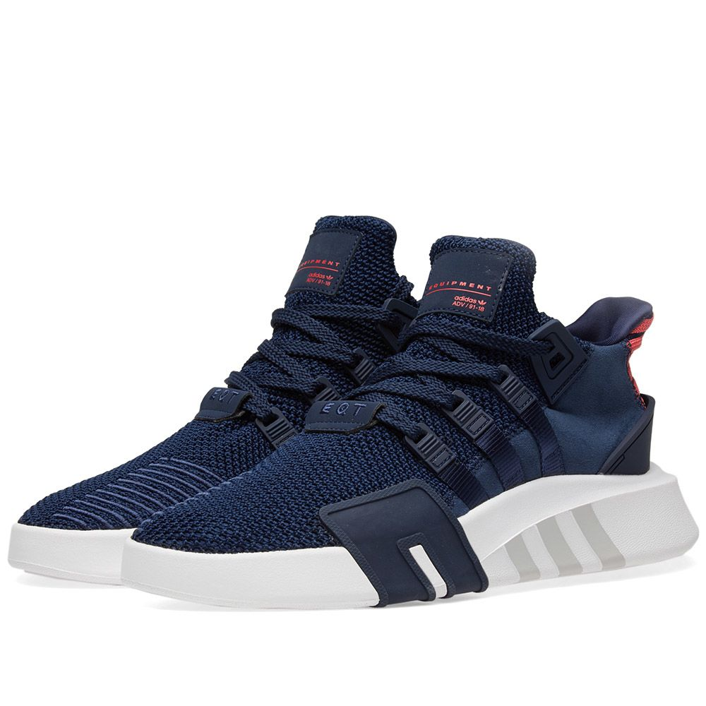 sports shoes 46f4f ba786 Adidas EQT Bask ADV Collegiate Navy  Coral  END.