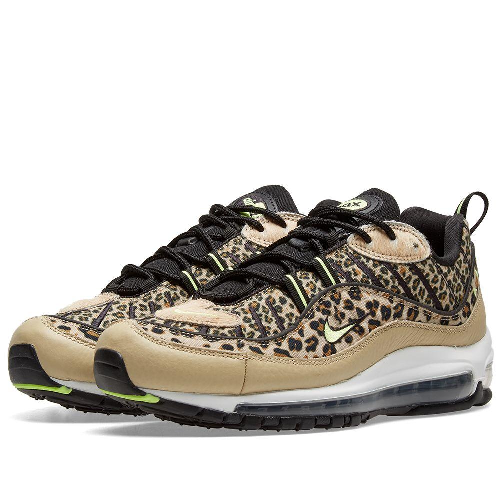 info for fd2e1 48733 Nike Air Max 98 Premium W Animal Pack Desert Ore  Volt Glow