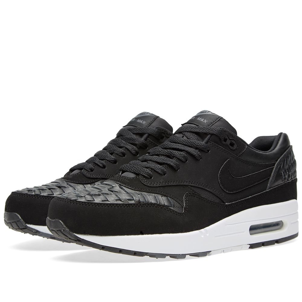 7ca66455819 Nike Air Max 1 Woven Black   Dark Grey