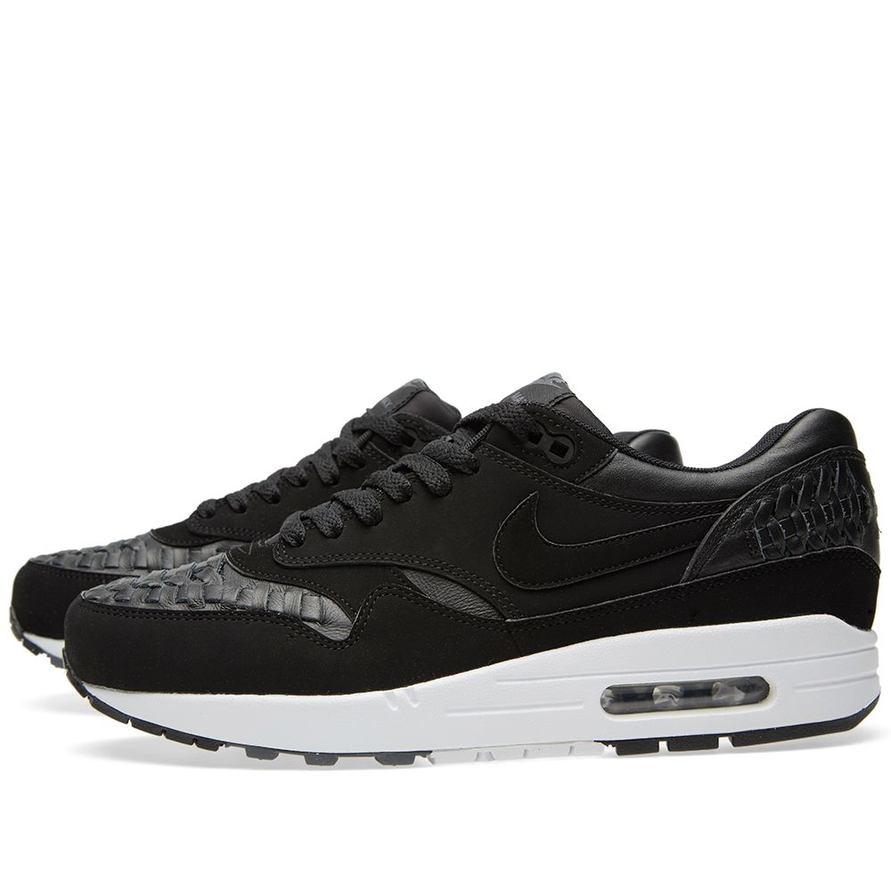 low priced 9d713 ee52e Nike Air Max 1 Woven Black   Dark Grey   END.