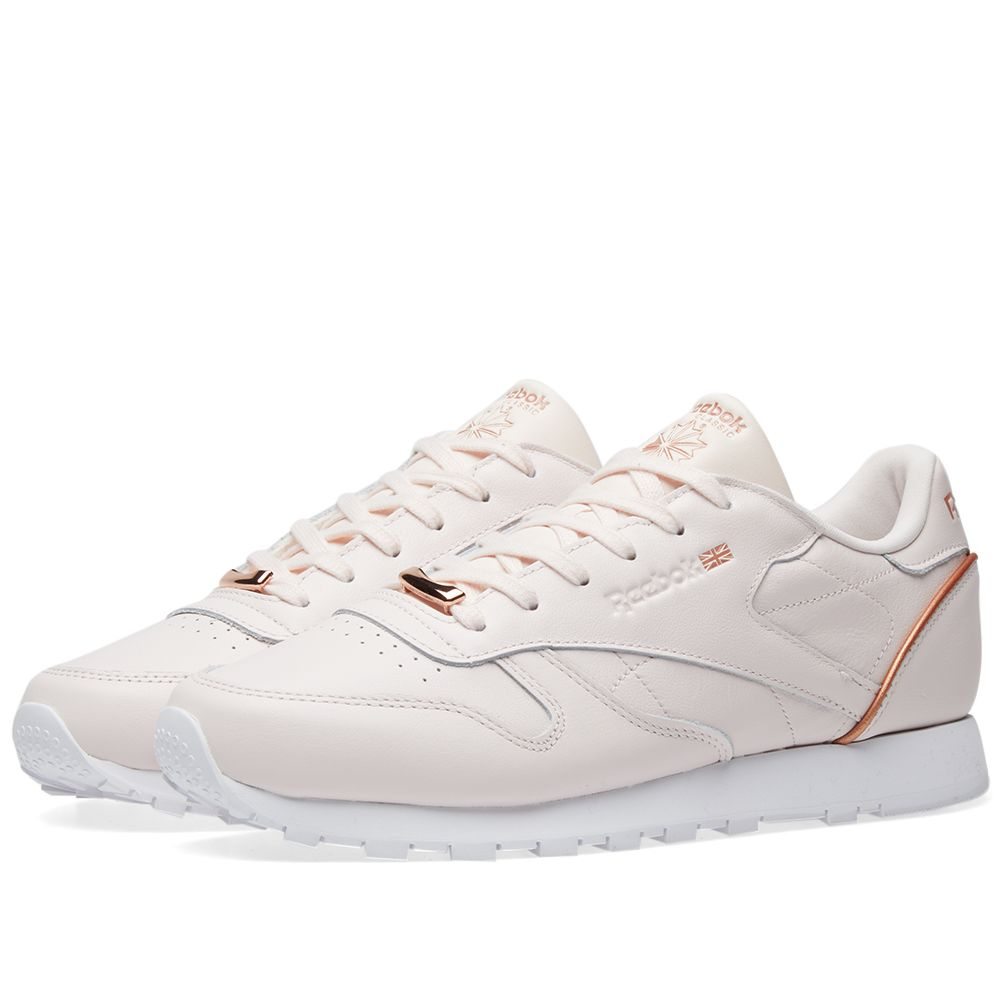 e0b52ec2e3e341 Reebok Classic Leather Hardware W Pale Pink
