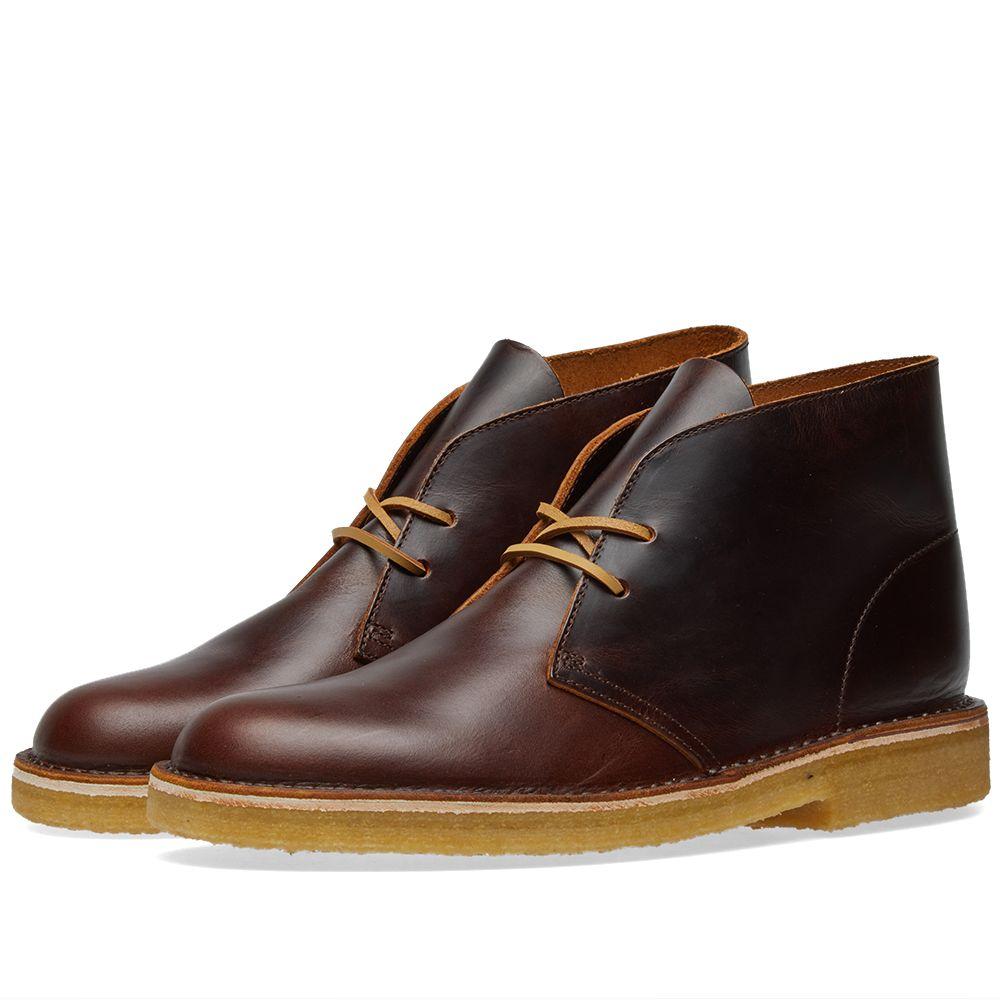 Clarks Originals Desert Boot - Made in Italy Chestnut Leather  f1aadd7c9