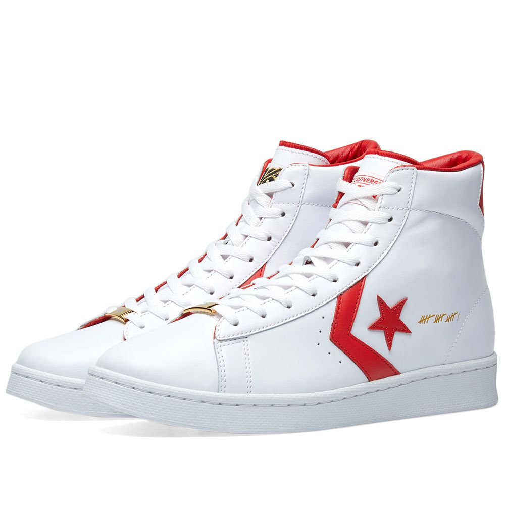 d1288afa826 Converse Pro Leather Hi  The Scoop  White   Red