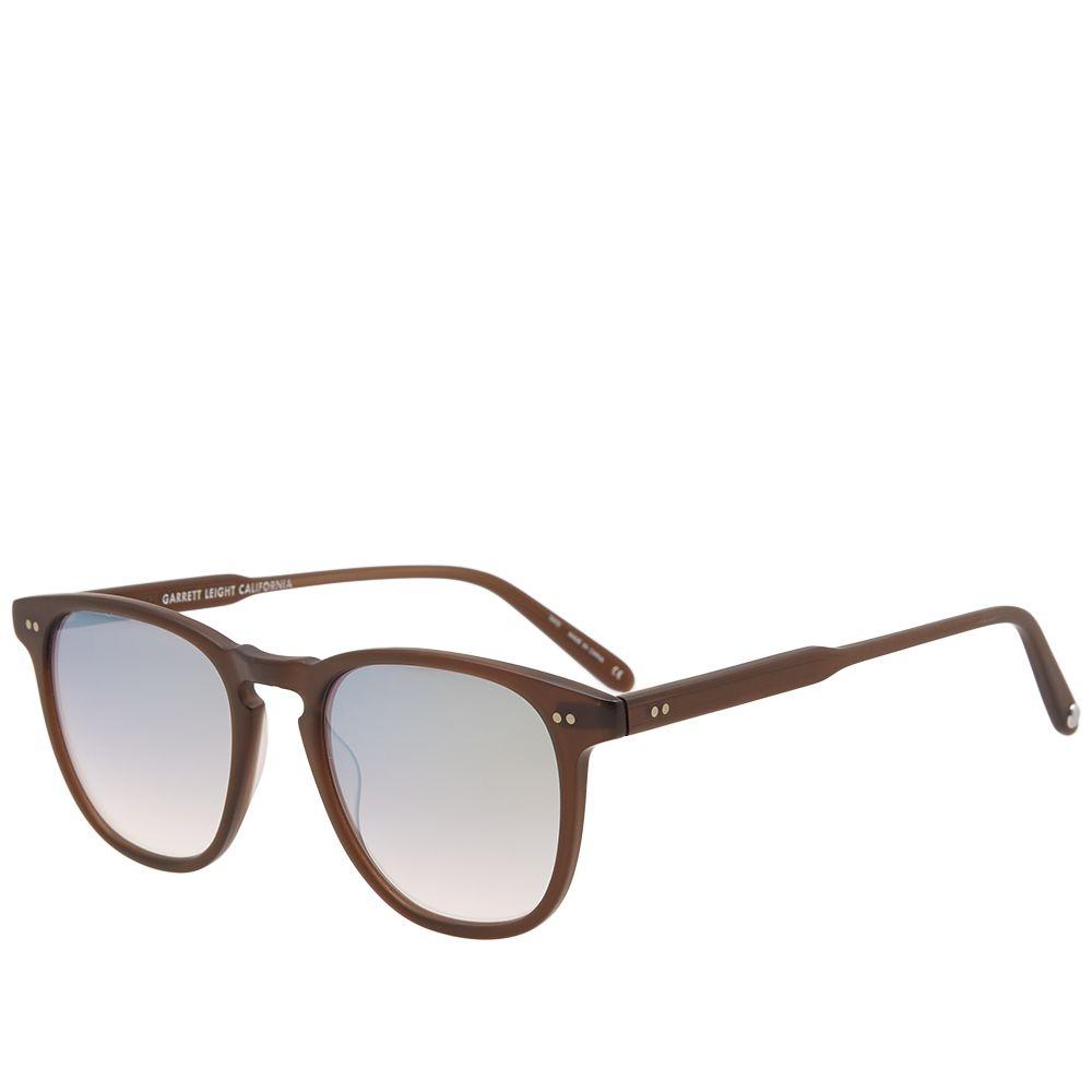 43deebe9c73 Garrett Leight Brooks Sunglasses Matte Espresso   Gold Mirror
