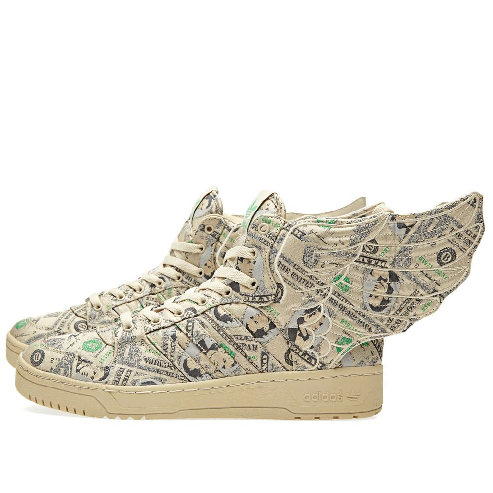 9cb3892db Adidas ObyO x Jeremy Scott Wings 2.0 Money White Vapour   Aloe