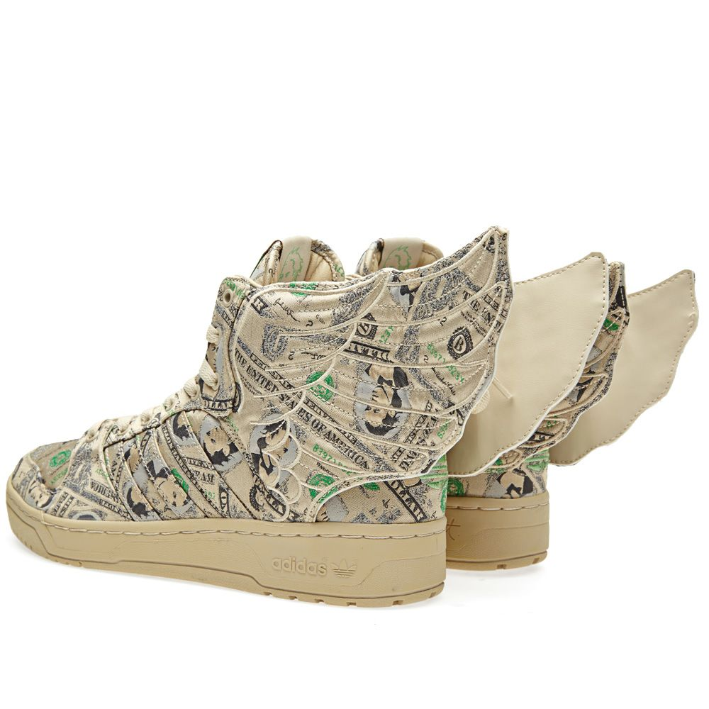 Adidas ObyO x Jeremy Scott Wings 2.0 Money White Vapour   Aloe  4315c9a15