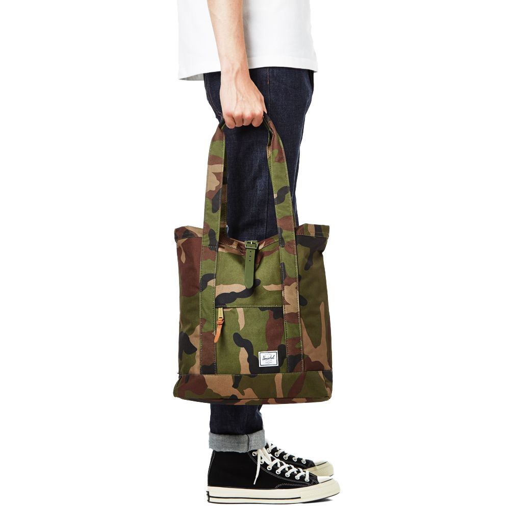 425cba37863d Herschel Supply Co. Market Tote Bag Woodland Camo   Army Rubber