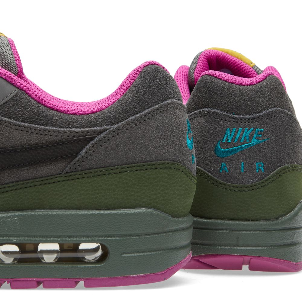 0f18f6d863f01 Nike Air Max 1 Leather Dark Pewter   Carbon Green ...