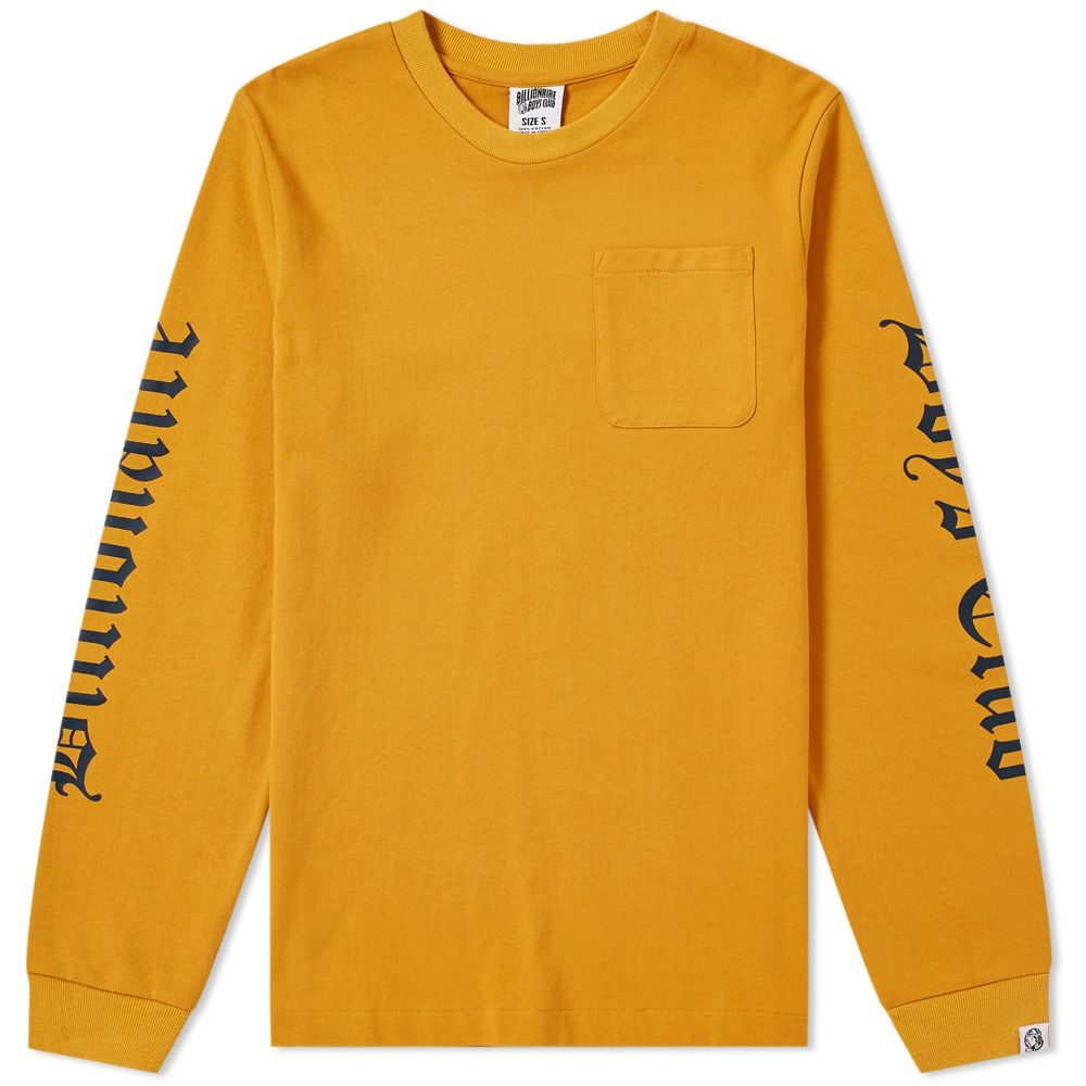 496e1f199d6a Billionaire Boys Club Long Sleeve College Pocket Tee Yellow
