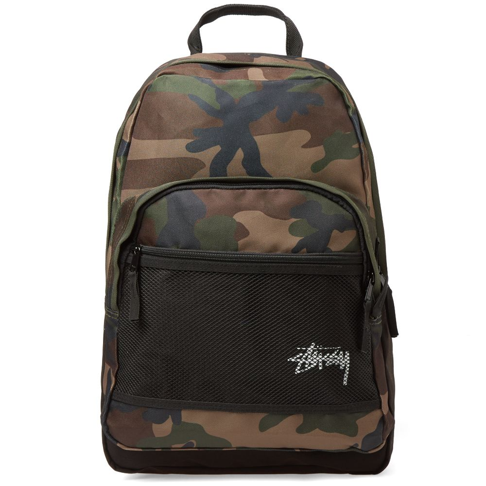 8d13cd50c3 Stussy Stock Backpack Woodland Camo