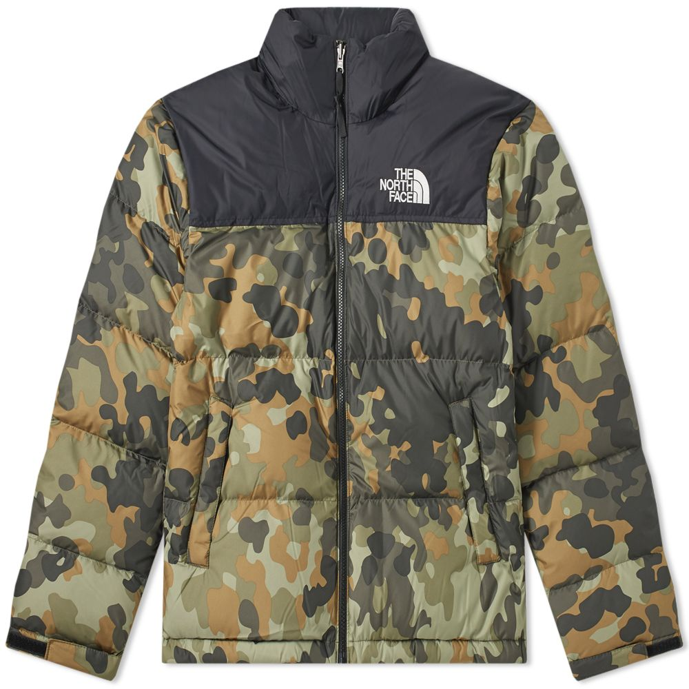 0a2764d299df The North Face 1996 Retro Nuptse Jacket Black   Green Camo
