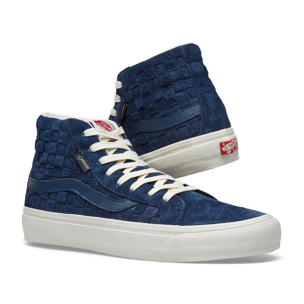 0249a483339335 Vans Vault SK8-Hi Gore-Tex LX Dress Blue