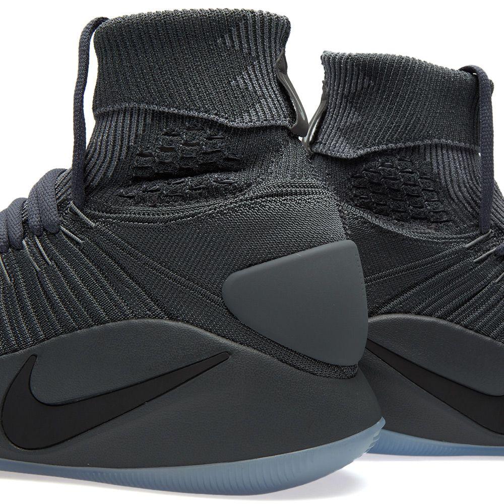 2cad84032f6b Nike Hyperdunk 2016 Flyknit Dark Grey   Metallic Platinum