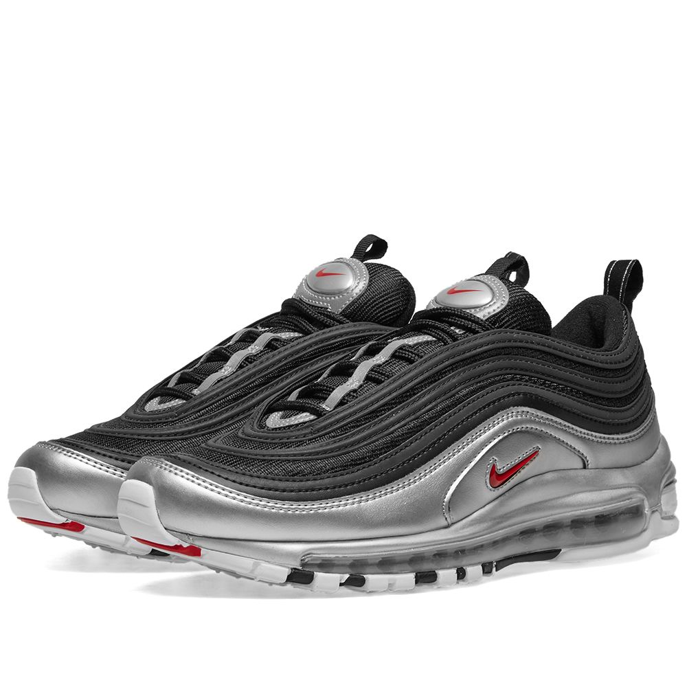 940b4db0335 Nike Air Max 97 QS Black   Varsity Red   Silver