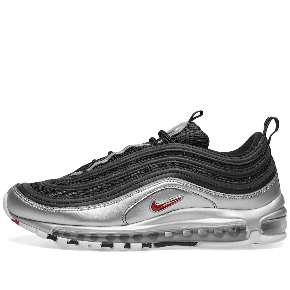 616b37d4d48b06 Nike Air Max 97 QS Black   Varsity Red   Silver