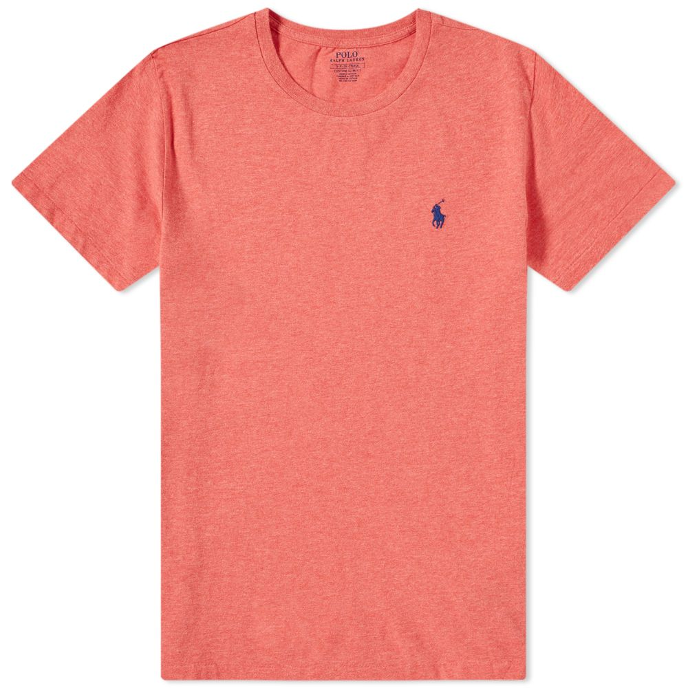 Polo Ralph Lauren Custom Fit Tee. Highland Rose Heather. £49. image 82e430bd7928