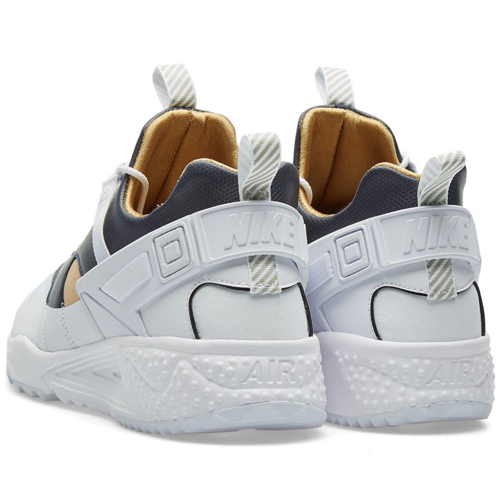 Nike Air Huarache Utility Premium White   Metallic Gold  b23933a868
