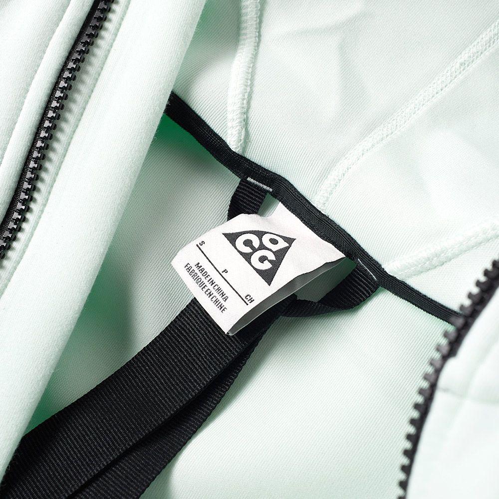 4c796c42df88 NikeLab ACG Fleece Zip Hoody Barely Green   Team Orange