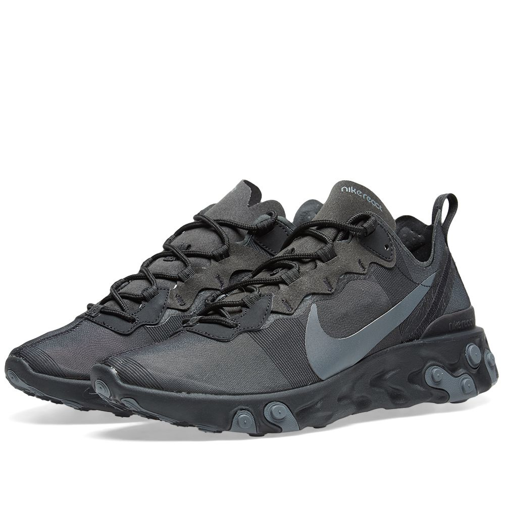ce0f03850fcc Nike React Element 55 Black   Dark Grey