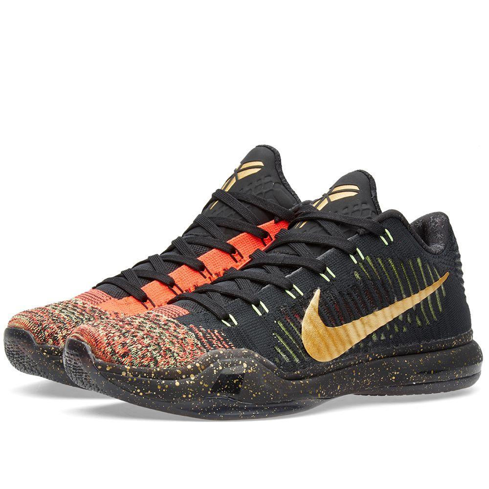 huge discount 52176 47f1c Nike Kobe X Elite Low  Christmas  Black   Metallic Gold   END.
