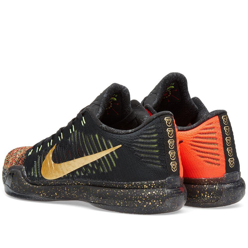 7accb2f94a11 Nike Kobe X Elite Low  Christmas  Black   Metallic Gold