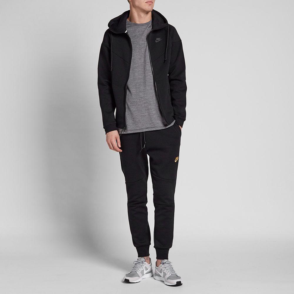 Nike Tech Fleece Pant Black   Metallic Gold  acb8e90f8388