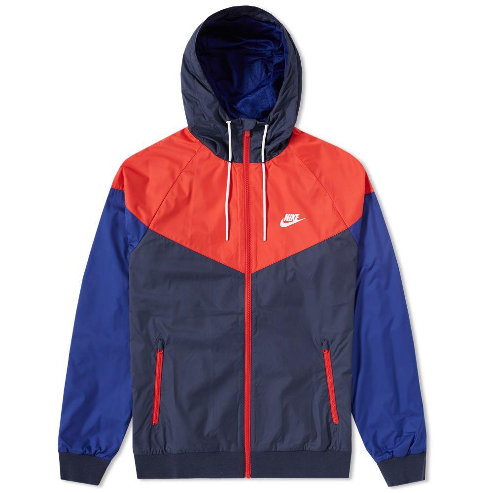 319d079316 Nike Windrunner Jacket Obsidian   University Red