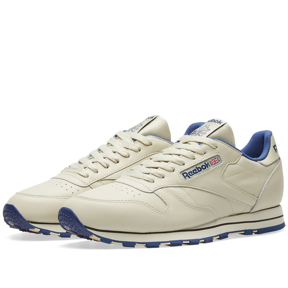 8be1f0c290e68 Reebok Classic Leather Ecru   Navy