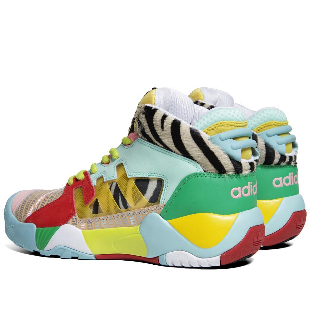 274530528b43 Adidas ObyO x Jeremy Scott Street Ball Art Green   Black