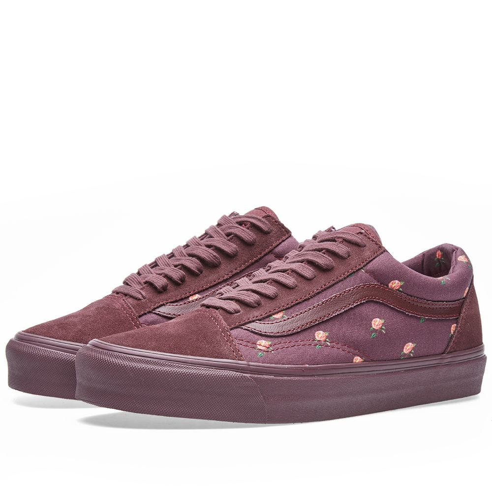 eb4972629786f1 Vans Vault x Undercover OG Old Skool LX Small Flowers   Bordeaux