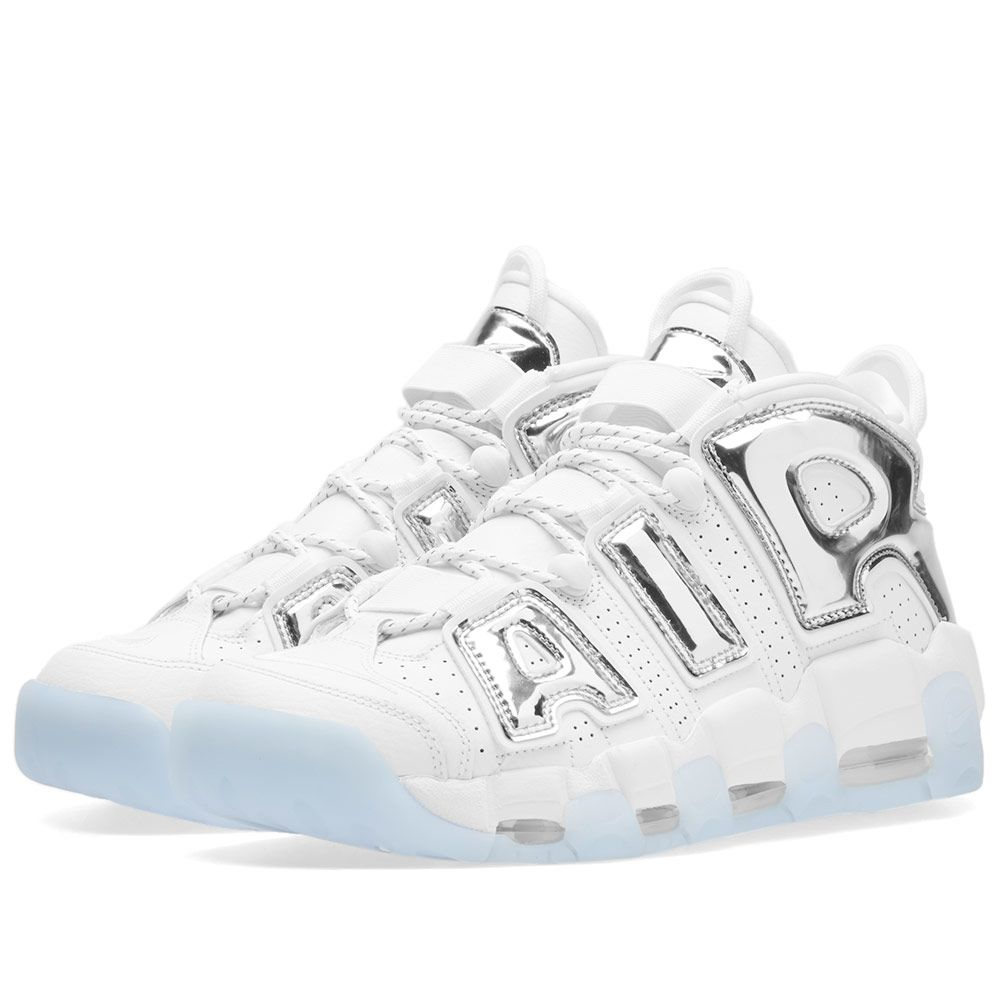 hot sale online 2af47 41b5a Nike Air More Uptempo W White, Chrome  Blue Tint  END.