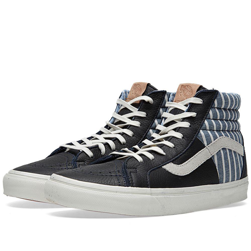 b426e1fd40 Vans California Sk8-Hi 46 CA Dress Blues Stripes