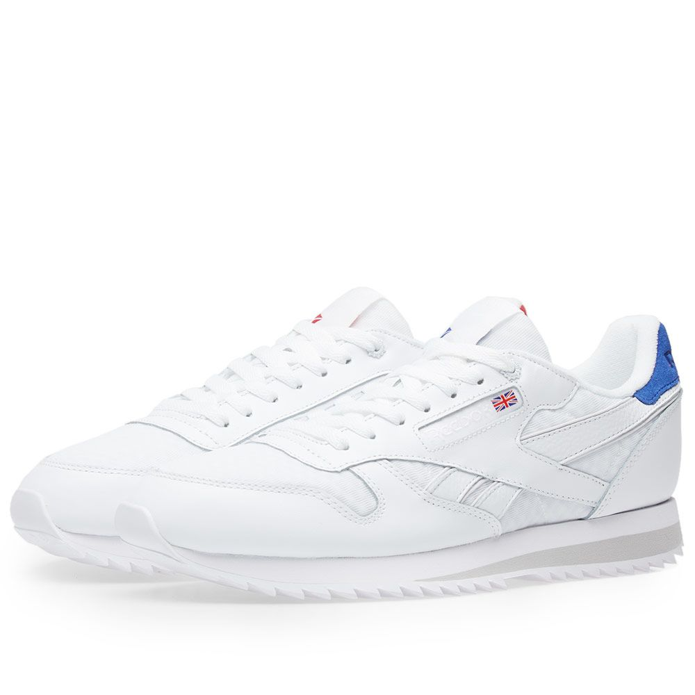 Reebok Classic Leather HC White   Excellent Red  98e14af13