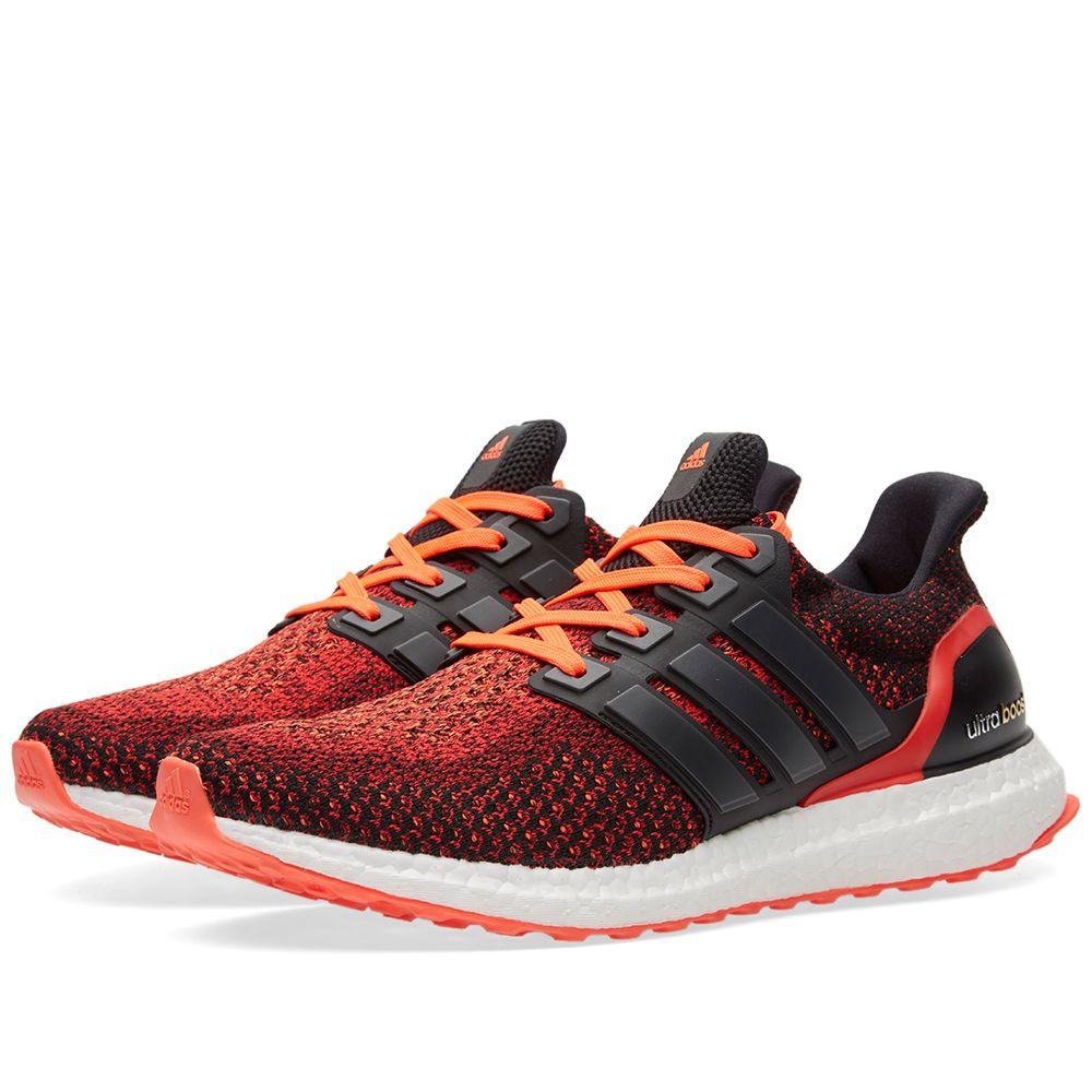 ea2203a95dd Adidas Ultra Boost M Core Black   Solar Red