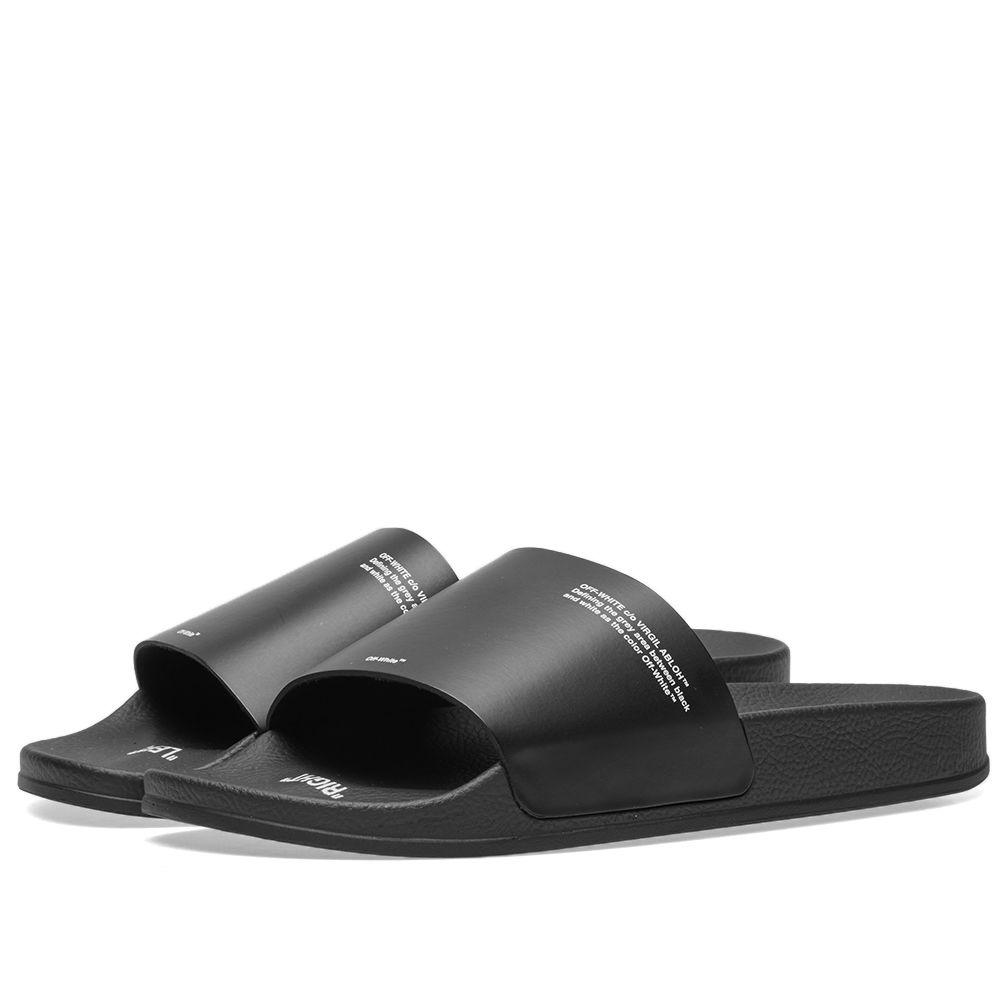 92ac94a25b15e7 Off-White Corporate Slider Black   White