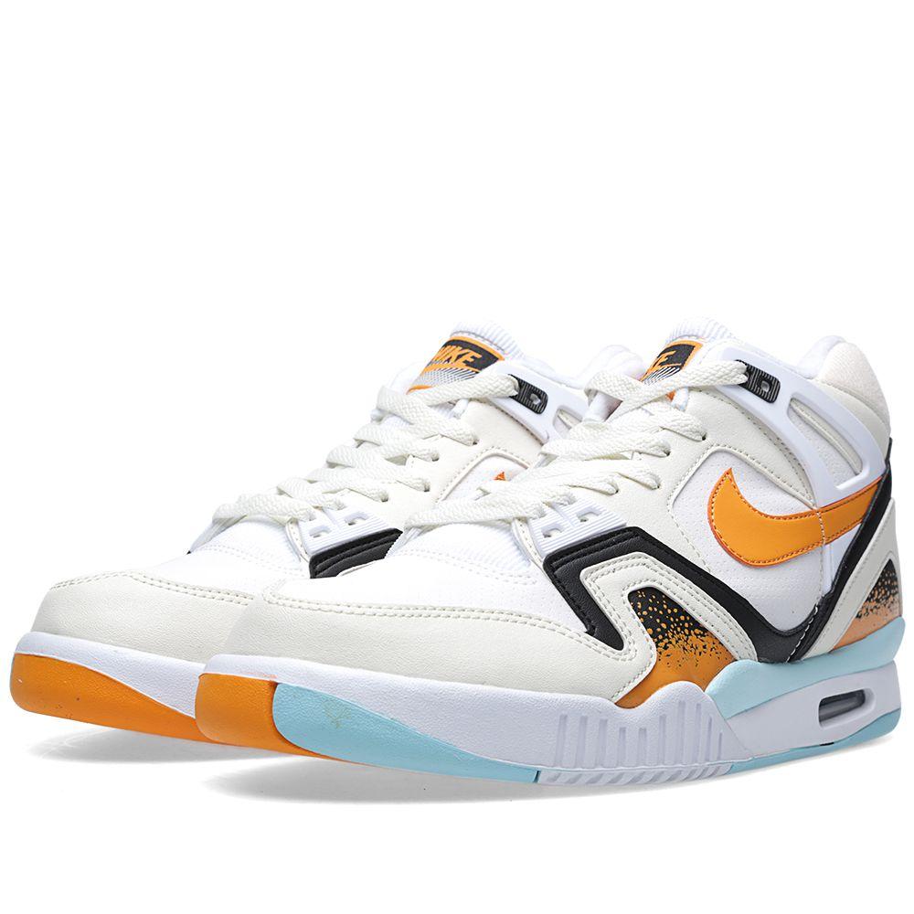 200c16411aa8 Nike Air Tech Challenge II. White   Kumquat.  119  75. image