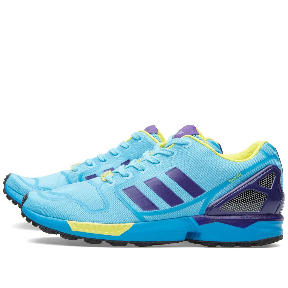 58c2183528d5 Adidas ZX Flux Techfit. Bright Cyan   Purple.  119  59. image