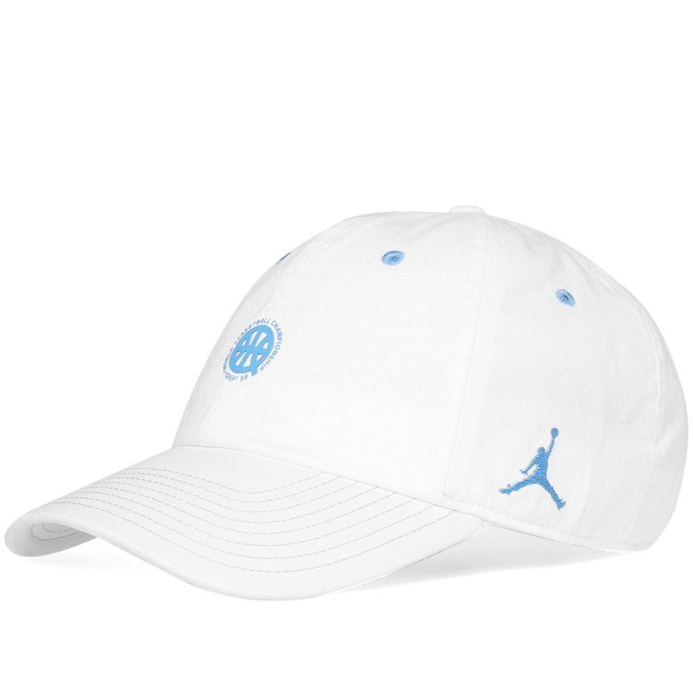 5ac8a0c5e9c377 Air Jordan H86 Floppy Hat  Quai 54  White   University Blue