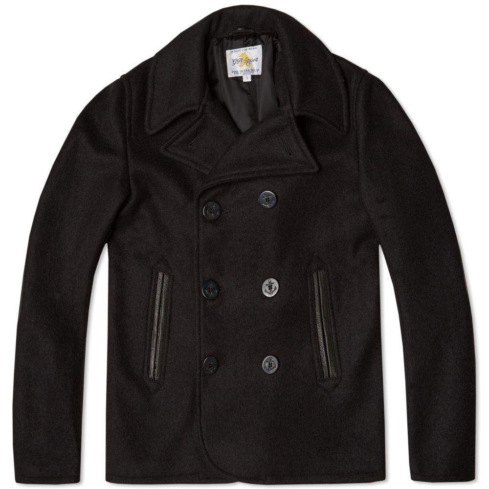 79b84e2f295 Golden Bear Sportswear Pea Coat Dark Navy Melton Wool