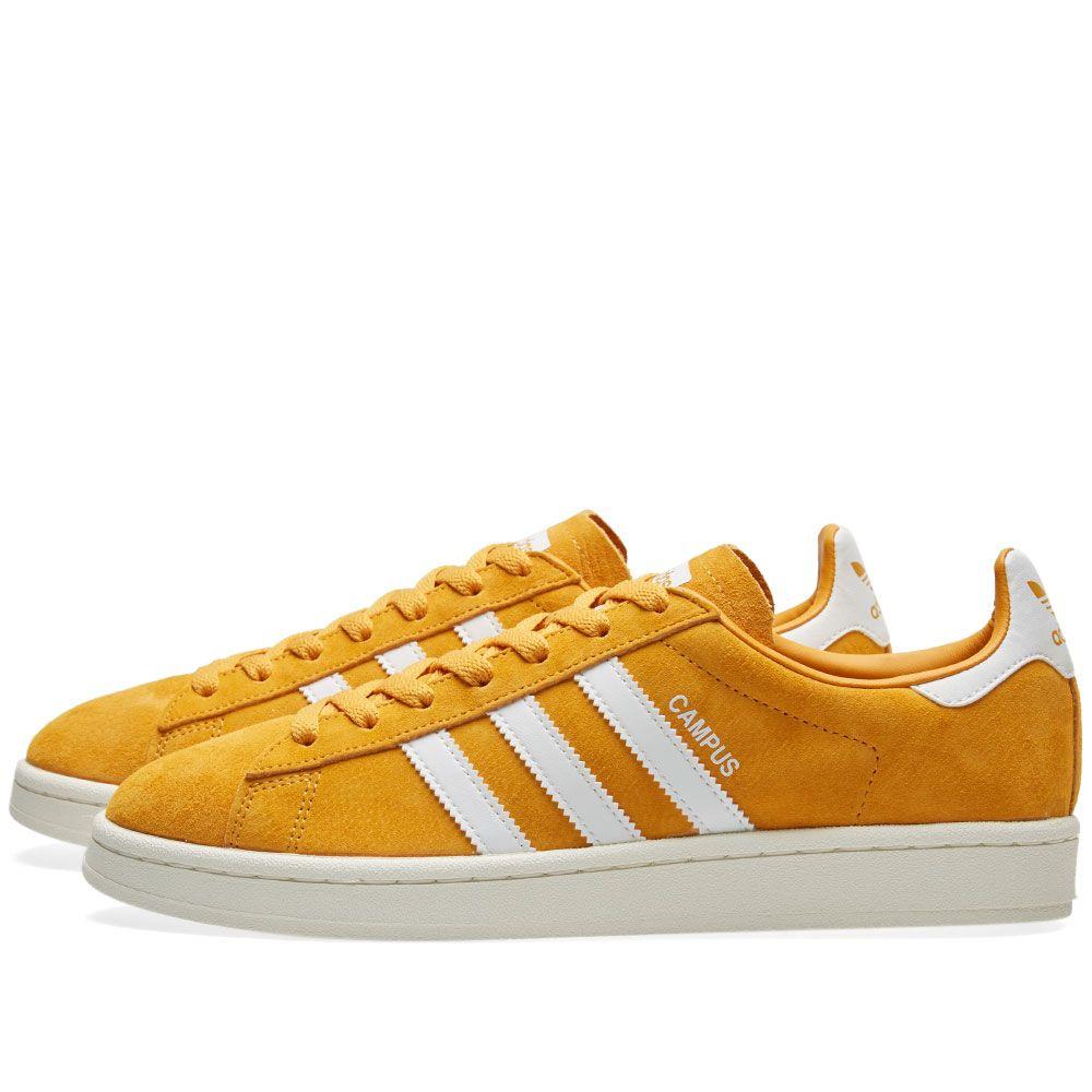 wholesale dealer 5e457 f2a1d Adidas Campus. Tactile Yellow   White