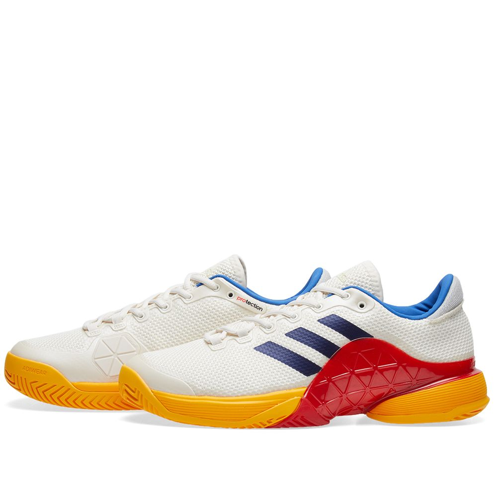 new style 7d4d2 15492 Adidas x Pharrell Williams US Open Barricade 2017. Chalk White, Dark Blue   Red