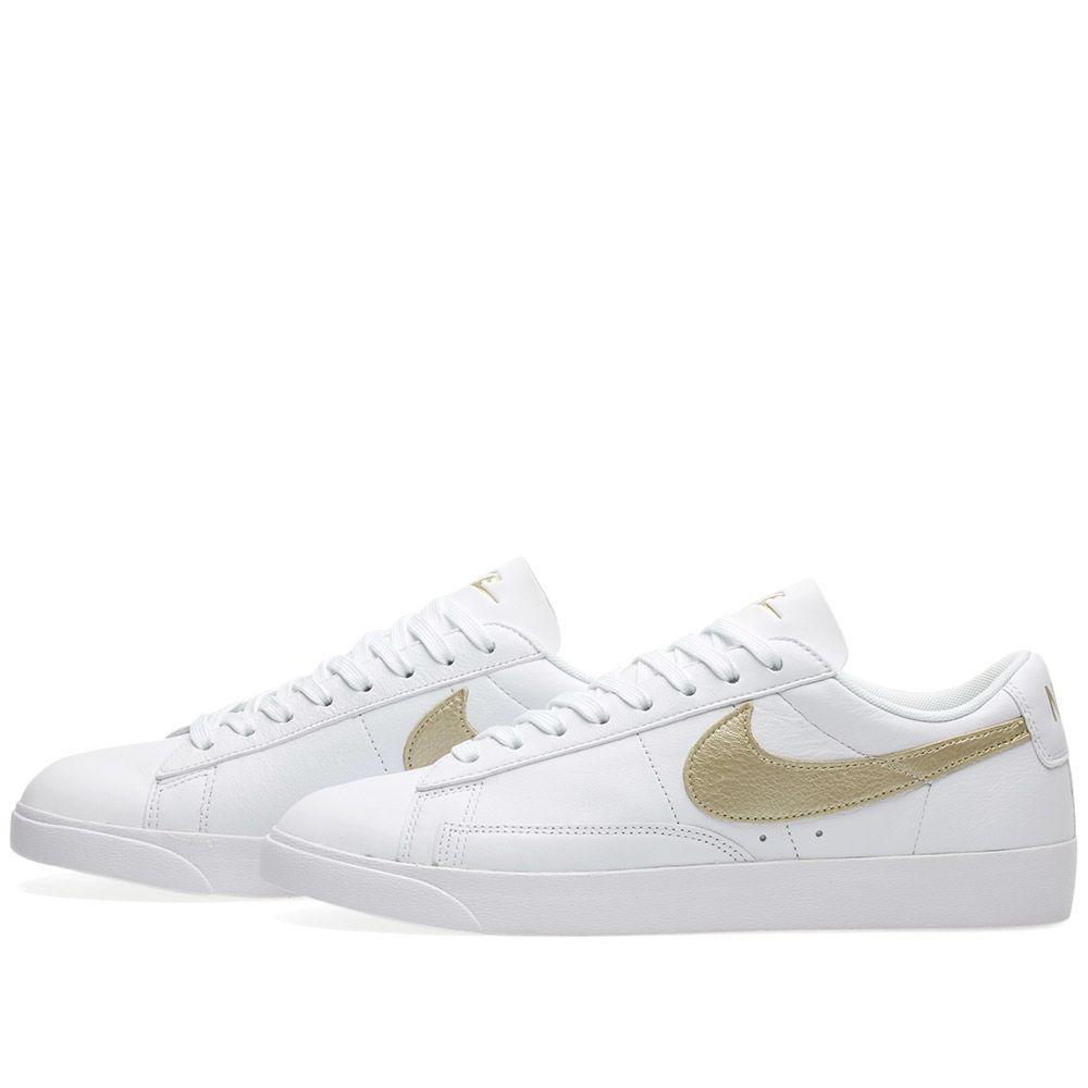 e571afa7d9aa Nike W Blazer Low Premium White   Metallic Gold Star