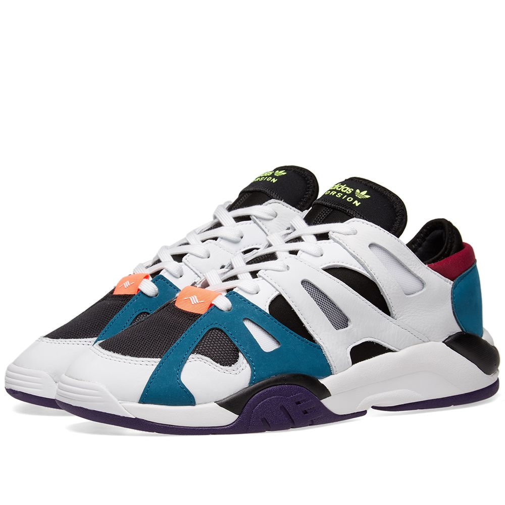 new style 49239 db39a Adidas Dimension Low White, Core Black  White Teal  END.