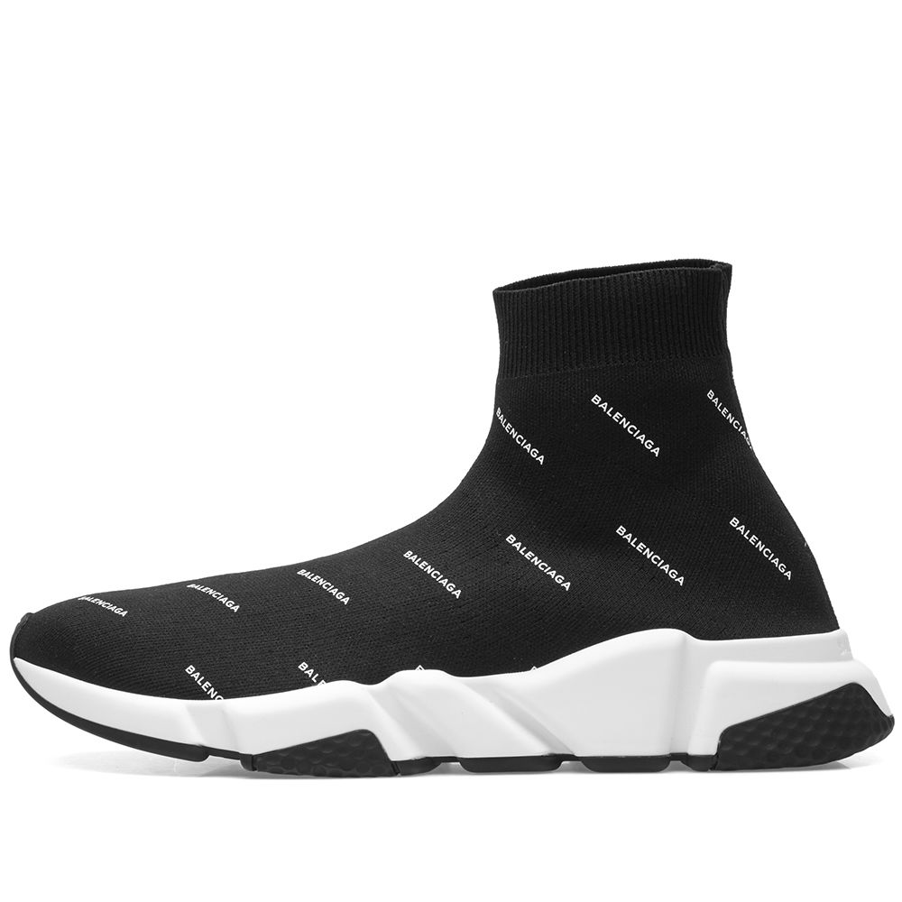 32764f808df7 Balenciaga print speed runner black white end jpg 1000x1000 Balenciaga speed  runner