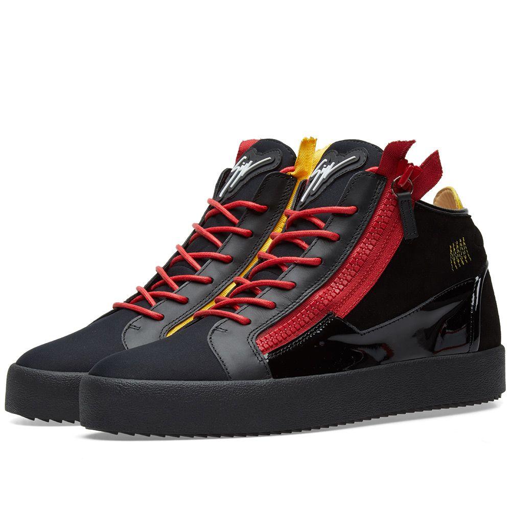 87211dbd1d5 homeGiuseppe Zanotti Double Zip Deconstructed Mid Sneaker. image. image.  image. image. image. image. image. image