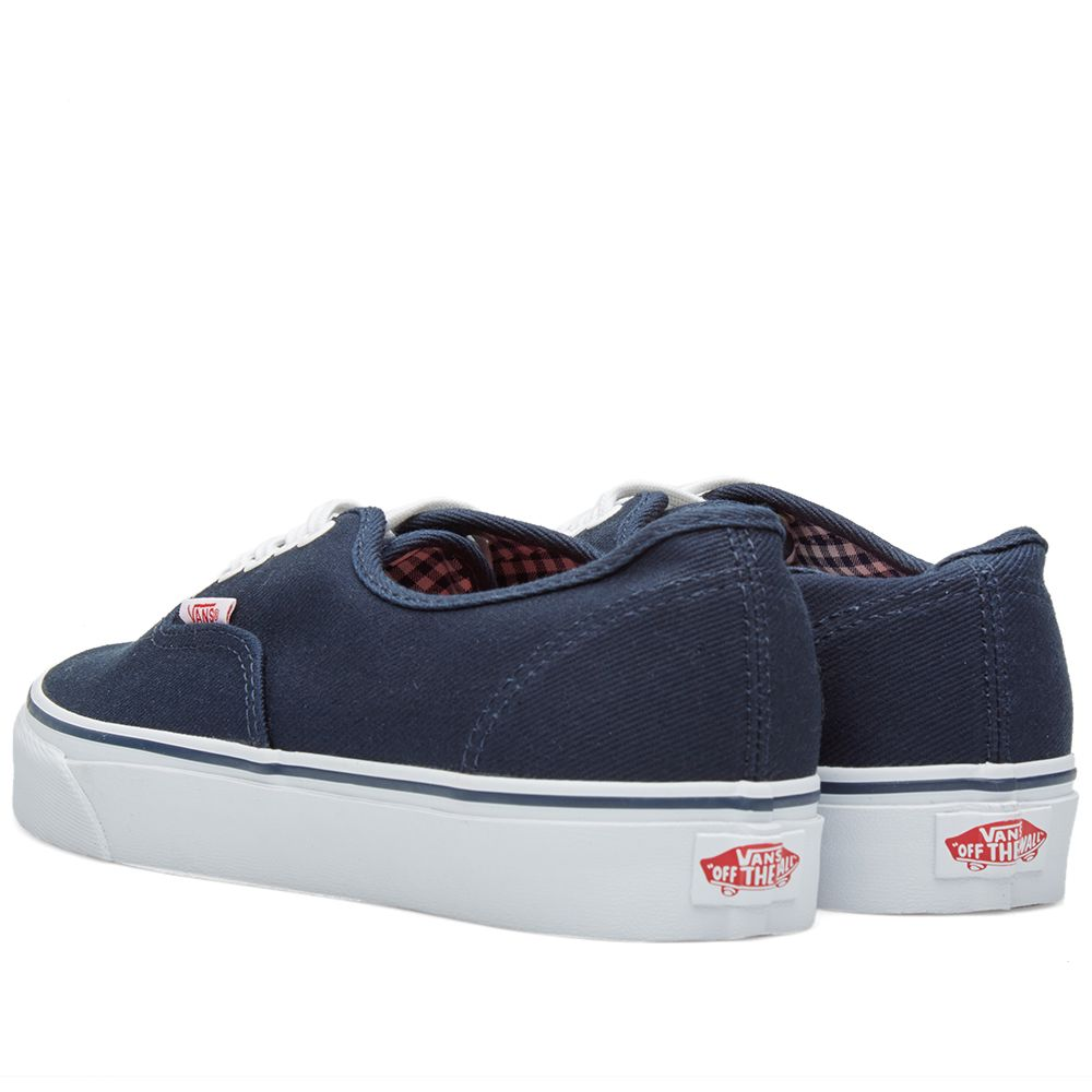 b7e60e03371fc5 Vans Authentic Dress Blues   True White